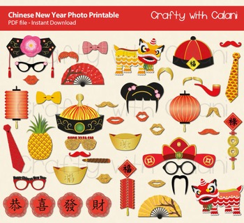 Chinese New Year Photo Props, Chinese Theme Photo Props, Asian Theme Photo Props