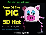 Chinese New Year Pig Headband  ::   Year of the Pig Hat  :: Pig Activity