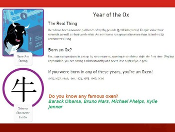 Chinese New Year PowerPoint with Homework Passes and the Chinese Zodiac