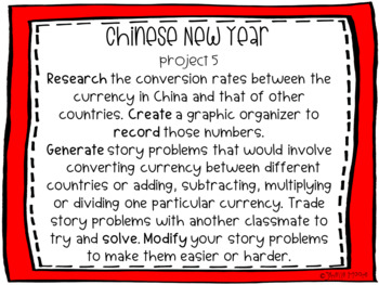 Chinese New Year Project-Based Learning & Enrichment for Literacy, Math & STEM
