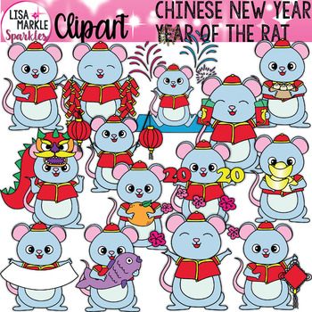 Chinese New Year Rat Clipart for VIPKID Gogokid and Online Teachers