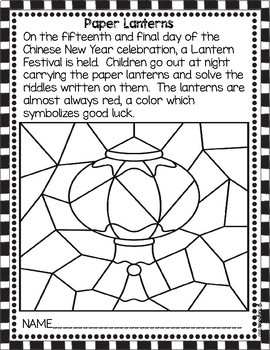 Chinese New Year Read and Color Booklet {FREEBIE}