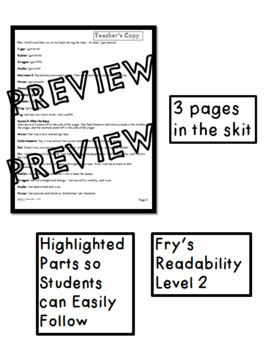 Chinese New Year Reader's Theater and Comprehension Questions
