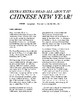 Chinese New Year! Reading Comprehension