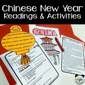 Chinese New Year Reading Comprehension, Coloring, and Activity Pages 2019