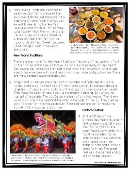 FSA & CCSS Aligned Chinese New Year Reading Language/Editing Practice