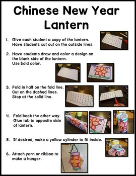 Chinese New Year Reading Passages and Crafts