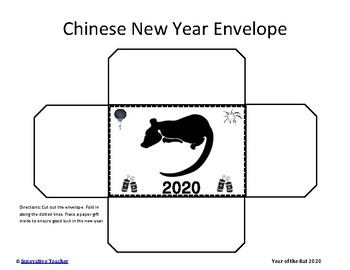 Chinese New Year Red Envelope FREEBIE (Year of the Rat 2020)