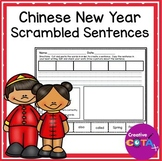 Chinese New Year Writing Scrambled Sentence Cards and Worksheets