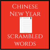 Chinese New Year Scrambled Words