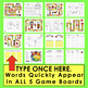 Chinese New Year 2018 Sight Word Game Boards Set 2