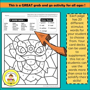Chinese New Year Speech and Language Therapy Color By Code Grab and Go Activity