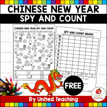 Chinese New Year Spy and Count (FREE)