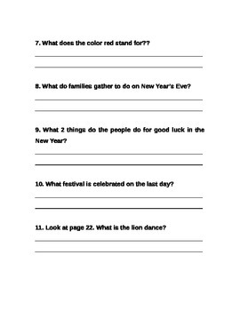 Chinese New Year--Text Evidence