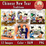 Chinese New Year Traditions Clip Art