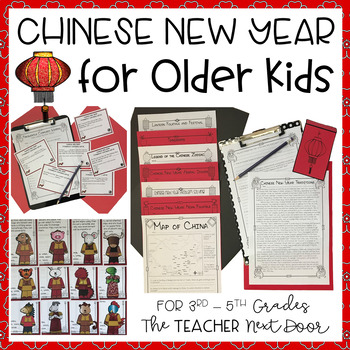 Chinese New Year Unit for Older Kids: 3rd - 5th Grades