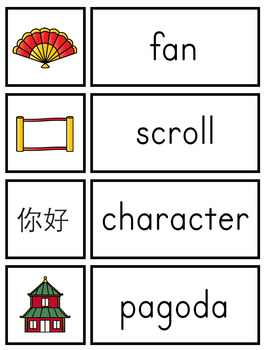 Chinese New Year Vocabulary Cards and Printables