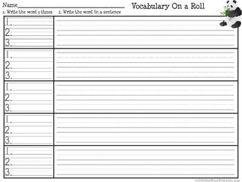 Chinese New Year - Vocabulary On a Roll