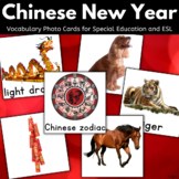 Chinese New Year Vocabulary Photo Cards for Autism, Special Ed, ESL