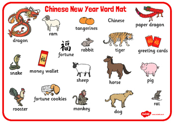Chinese New Year Word Mat