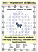 Chinese New Year Word Search about the Chinese Zodiac