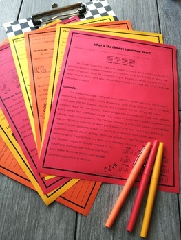 Chinese New Year Nonfiction Article and Activity