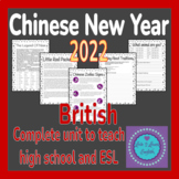 Chinese New Year Worksheet Pack- ELA, ESL, EFL BRITISH