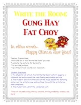 Chinese New Year - Write the Room Activity
