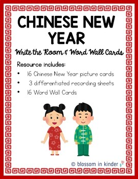Chinese New Year Write the Room & Word Cards