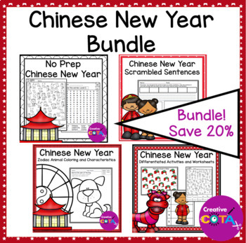 Chinese New Year Writing and Math Activities