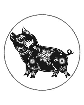 Chinese New Year – Year Of The Pig Coloring Page