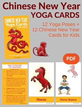 Chinese New Year Yoga Cards for Kids by Kids Yoga Stories | TpT