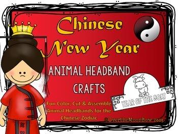Chinese New Year -Zodiac Animals Headband Craft Activity Pack