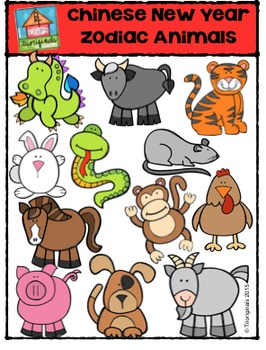 Chinese New Year Zodiac Animals {P4 Clips Trioriginals Digital Clip Art}