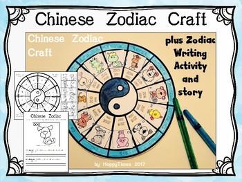 Chinese New Year Zodiac Craft and Writing Activity