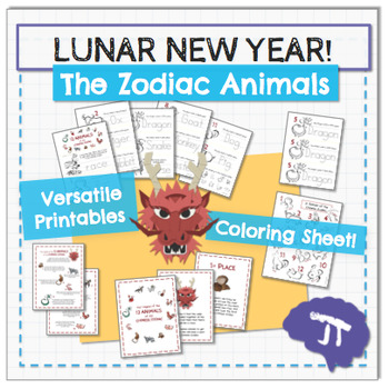 Chinese New Year 2017 Zodiac Emergent Reader, Book, and Posters
