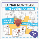 Chinese New Year Zodiac Emergent Reader, Book, and Posters