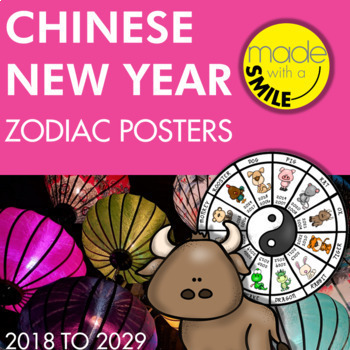 c67ad3a26 Chinese New Year Zodiac Poster Set by Made With A Smile | TpT