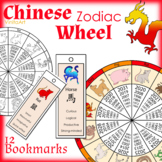 Chinese New Year Zodiac Wheel & 12 bookmarks for each animal