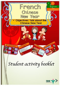 French Chinese New Year activity booklet for beginners/int
