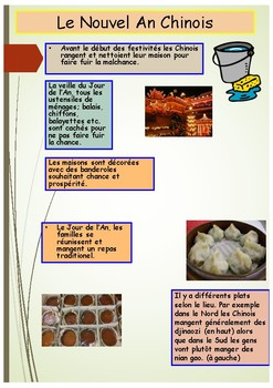 French Chinese New Year activity booklet for beginners/intermediate