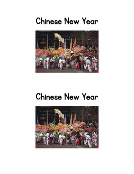 Chinese New Year; an Emergent Reader and Chinese lantern to make
