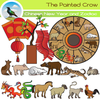 Chinese New Year and Zodiac Clip Art