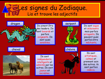 Chinese New Year in French - Le Nouvel an Chinois interactive activities