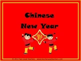 Chinese New Year info and dragon pattern