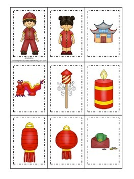 Chinese New Year themed Memory Matching preschool learning game.