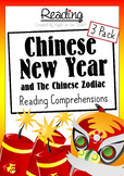 Chinese New Years + Chinese Zodiac Story Reading Comprehensions - 3 Pack