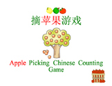 Chinese Numbers Apple Counting Game