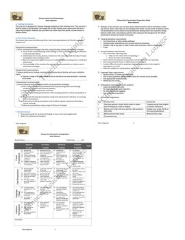 Language Class Oral Presentation Guidelines - News Reporter