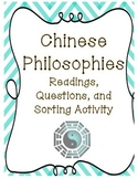 Chinese Philosophies: Readings, Questions, and Sorting Activity